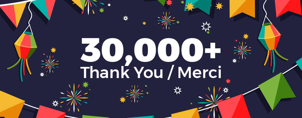 30,000 Reasons to Say Thank You