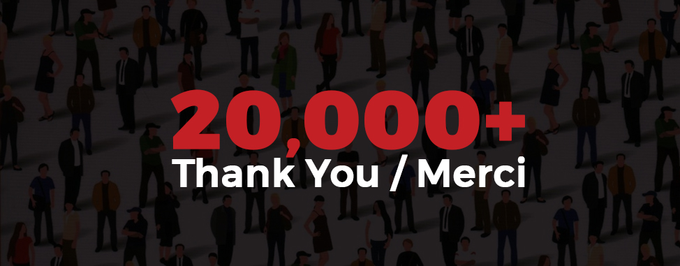Over 20,000 Reasons to Say Thank You